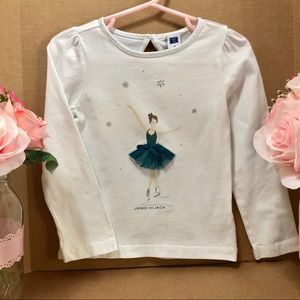 ⬇️$29 Janie and Jack 3T Ice Skater Tee long sleeve